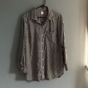 Old Navy Black and White Stripes Blouse